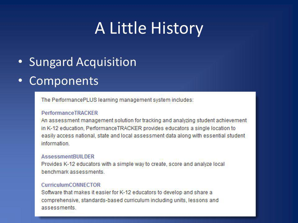 A Little History Sungard Acquisition Components