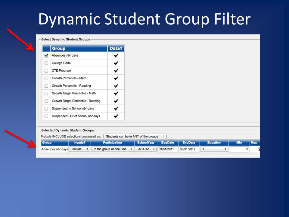 Dynamic Student Group Filter