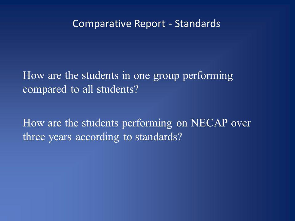 Comparative Report - Standards