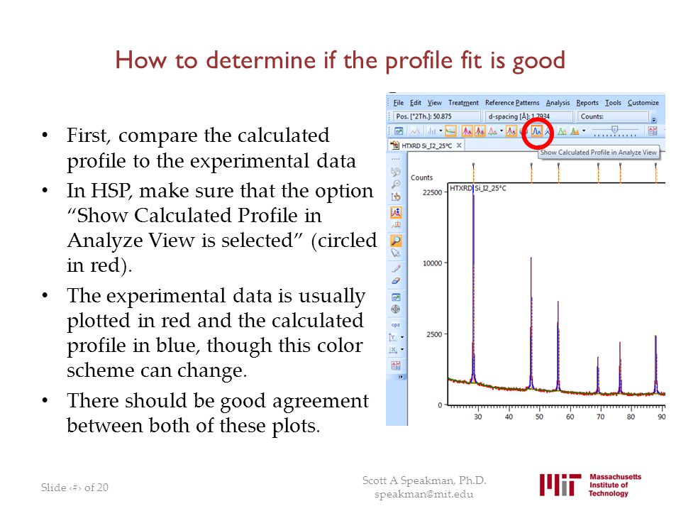 How to determine if the profile fit is good