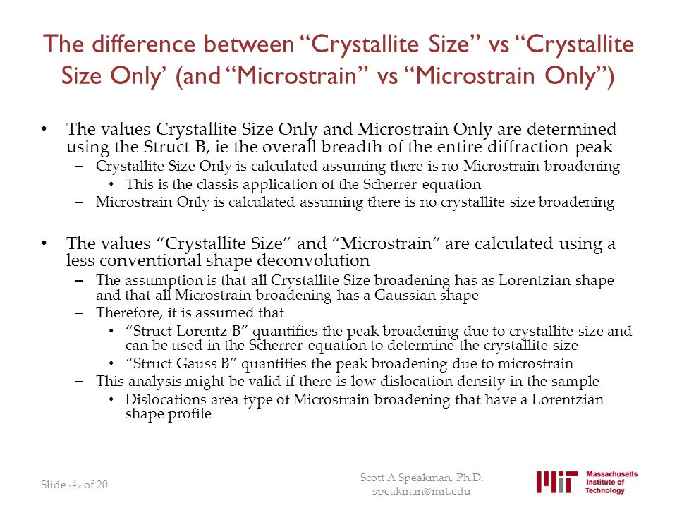 The difference between Crystallite Size vs Crystallite Size Only' (and Microstrain vs Microstrain Only )