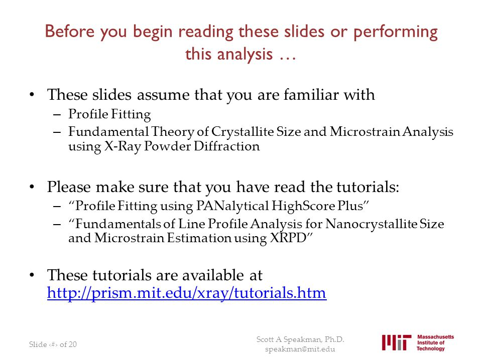 Before you begin reading these slides or performing this analysis …
