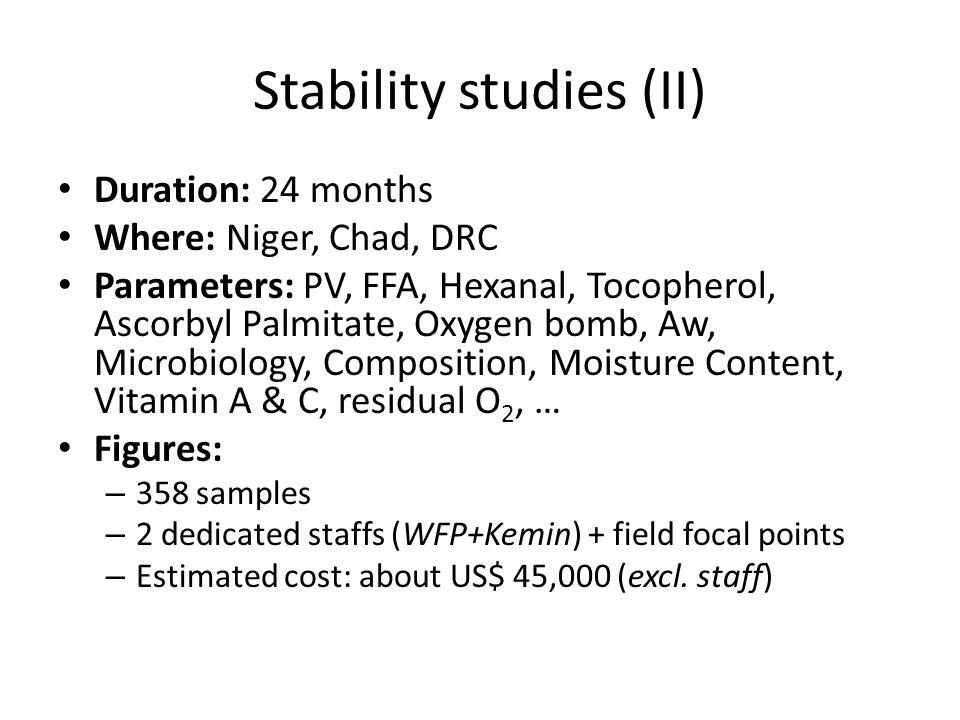 Stability studies (II)