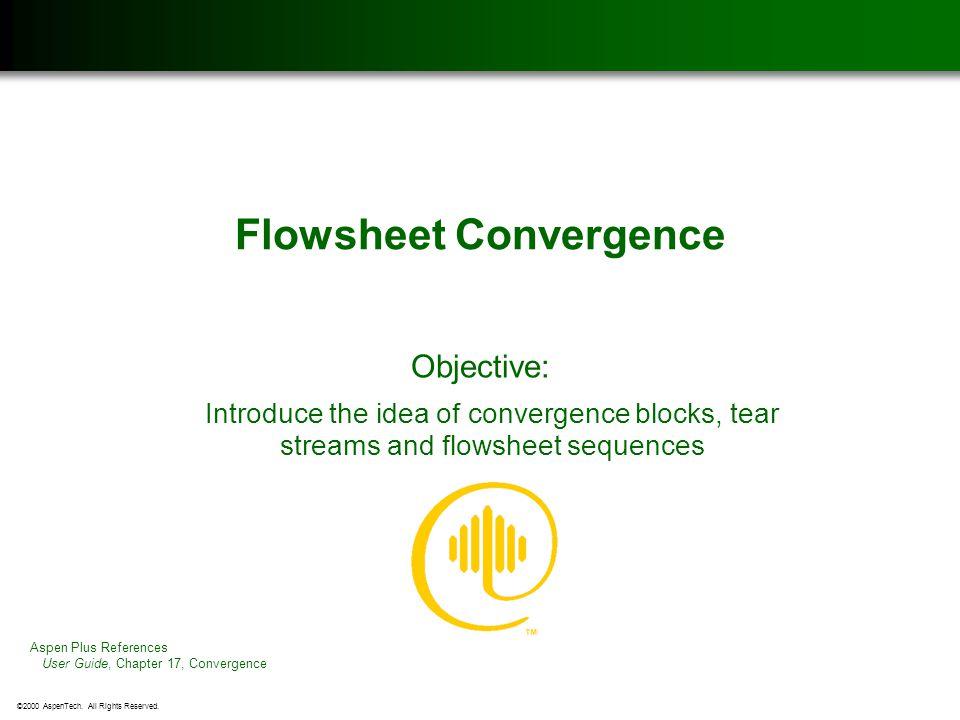 Flowsheet Convergence