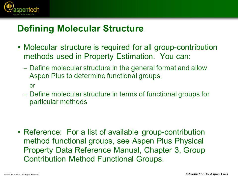 Defining Molecular Structure