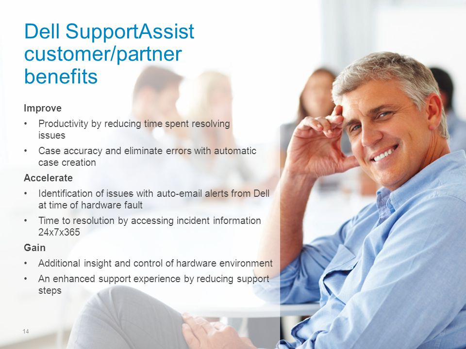 Dell SupportAssist customer/partner benefits