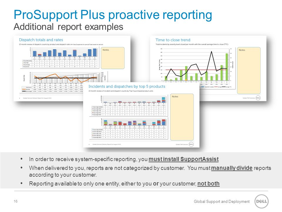 ProSupport Plus proactive reporting Additional report examples