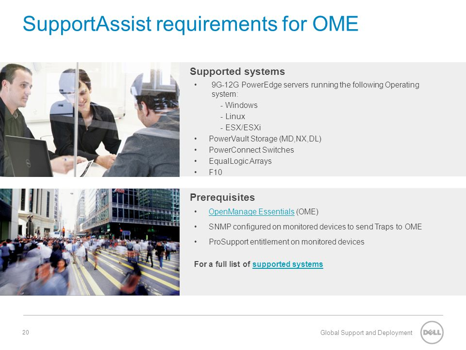 SupportAssist requirements for OME