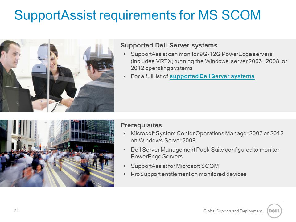 SupportAssist requirements for MS SCOM