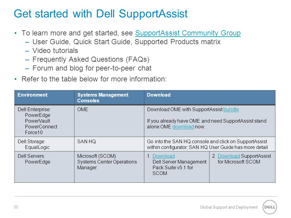 Get started with Dell SupportAssist