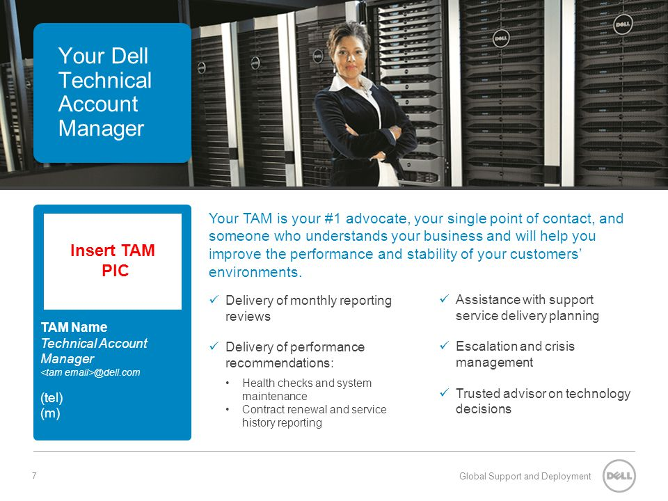 Your Dell Technical Account Manager