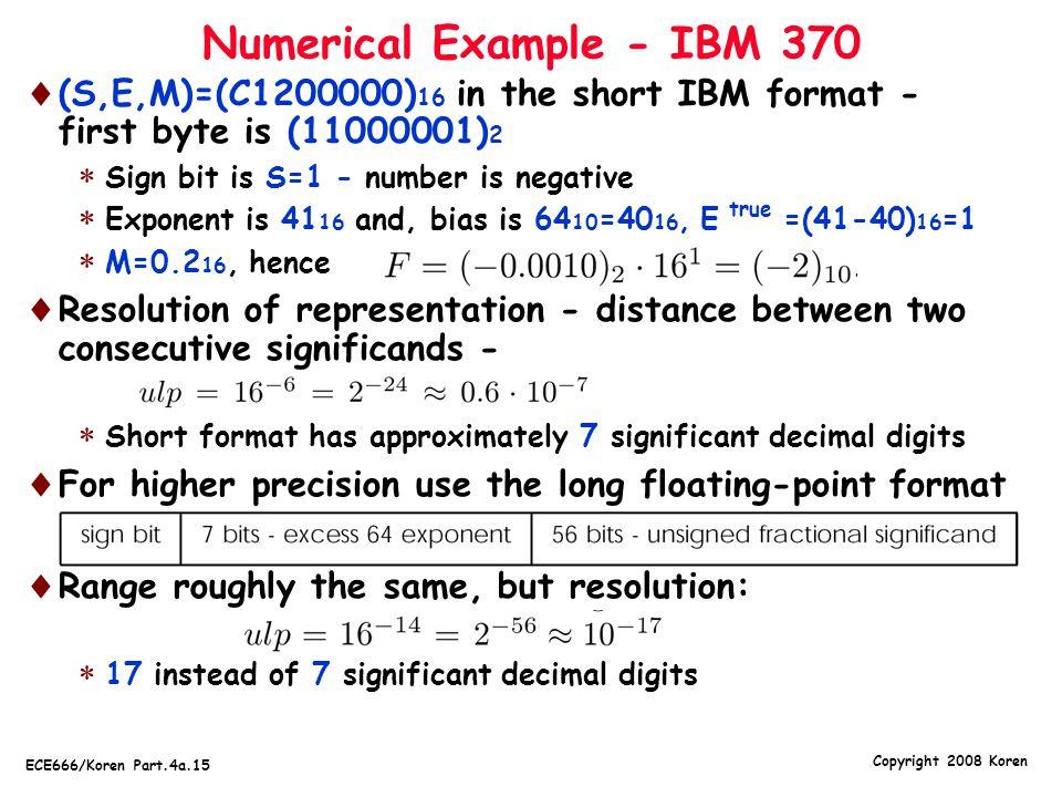 Numerical Example - IBM 370