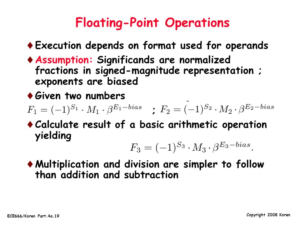 Floating-Point Operations