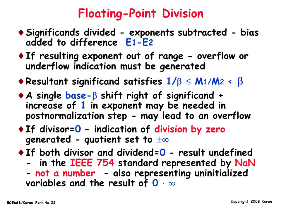 Floating-Point Division