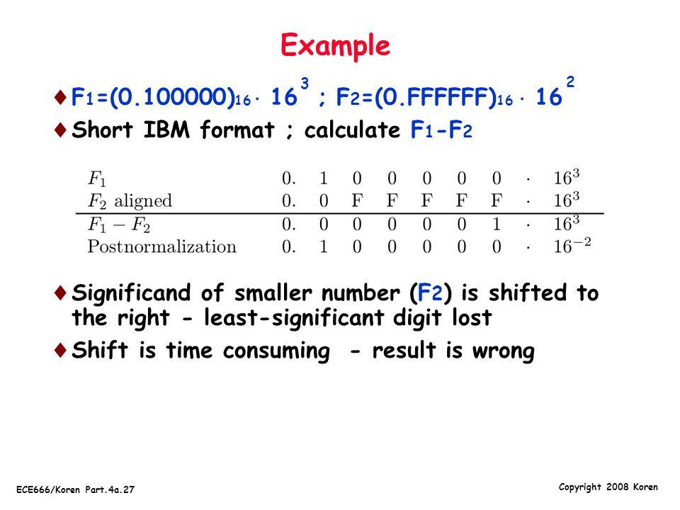 Example F1=(0.100000)16  16 ; F2=(0.FFFFFF)16  16