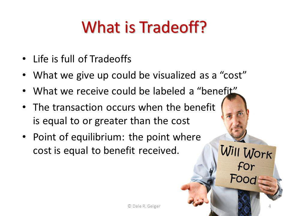 What is Tradeoff Life is full of Tradeoffs