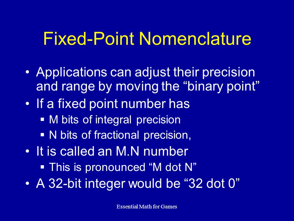 Fixed-Point Nomenclature
