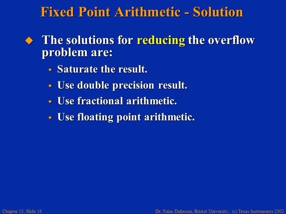 Fixed Point Arithmetic - Solution