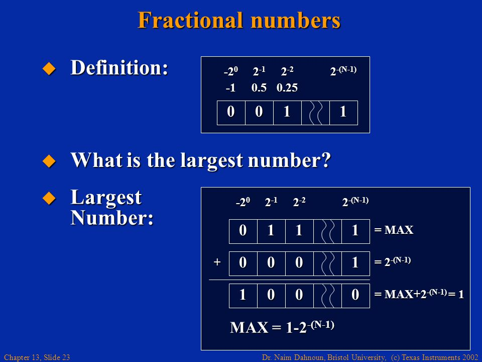 Fractional numbers Definition: What is the largest number