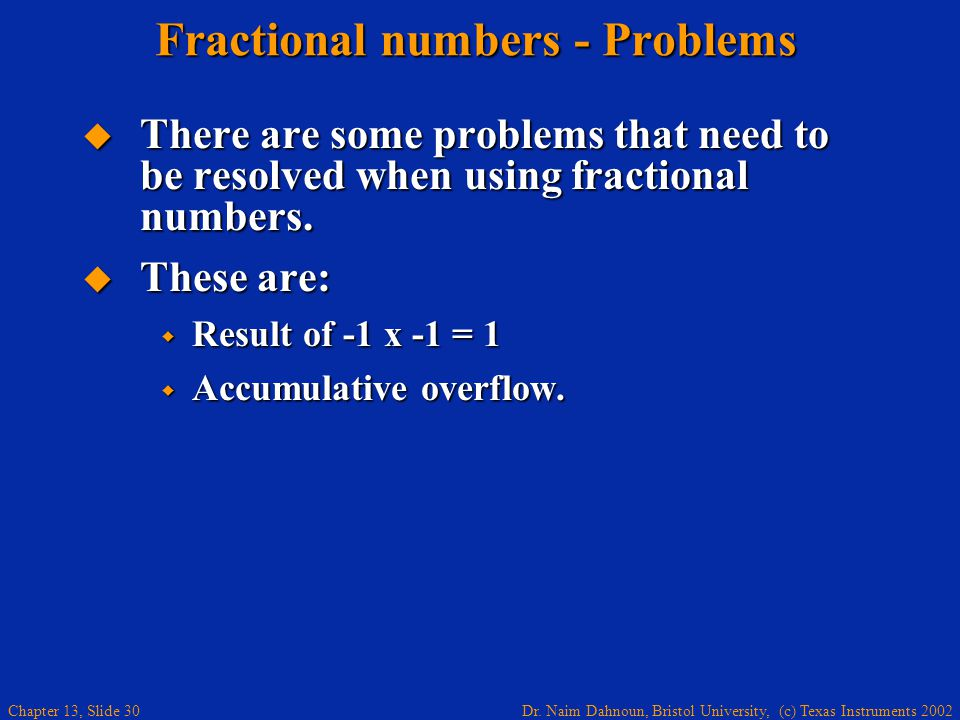 Fractional numbers - Problems