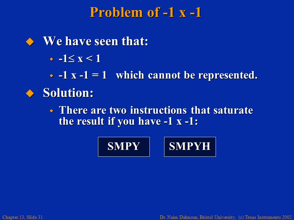 Problem of -1 x -1 We have seen that: Solution: -1 x < 1