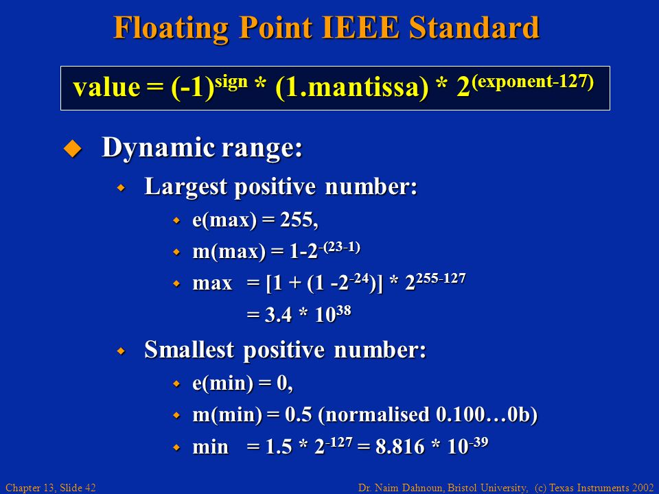 Floating Point IEEE Standard