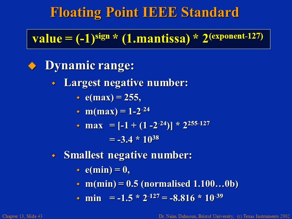 Floating Point IEEE Standard