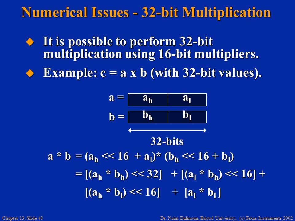 Numerical Issues - 32-bit Multiplication