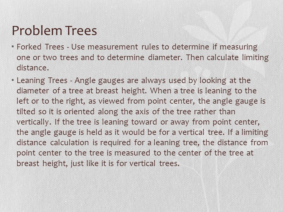 Problem Trees