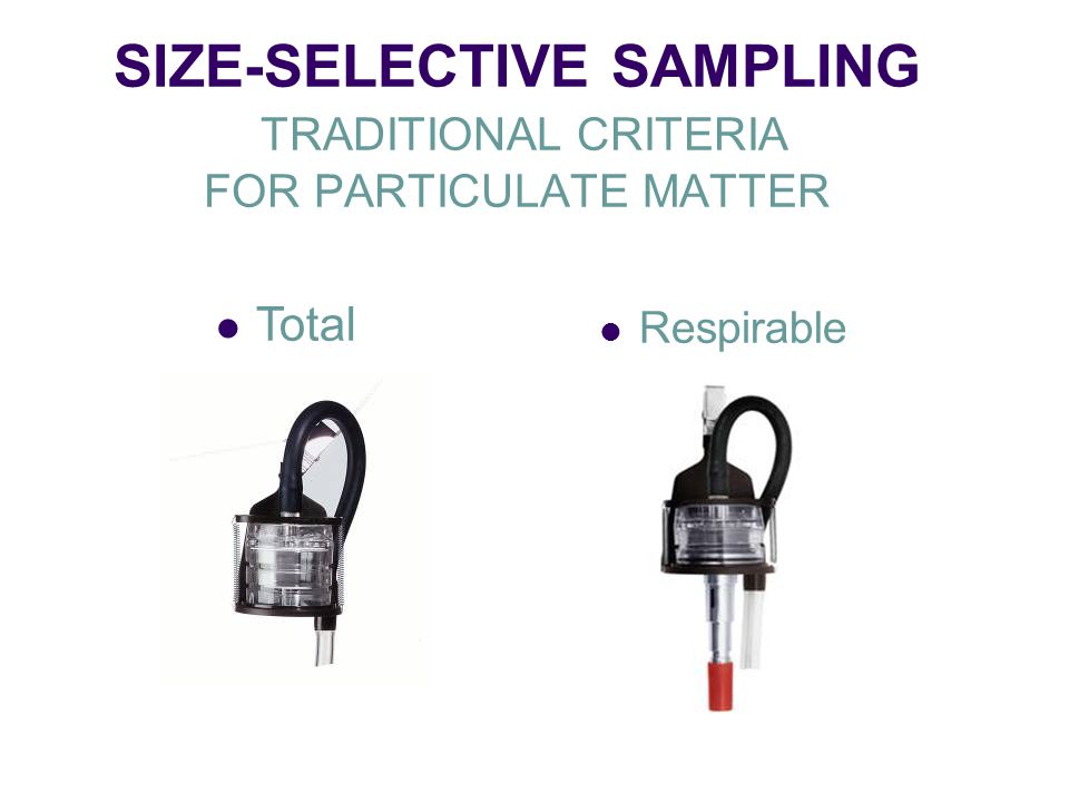 SIZE-SELECTIVE SAMPLING TRADITIONAL CRITERIA FOR PARTICULATE MATTER