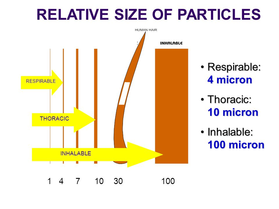 RELATIVE SIZE OF PARTICLES