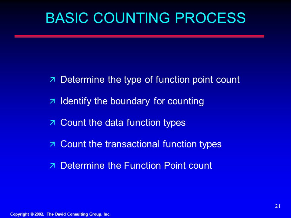 BASIC COUNTING PROCESS