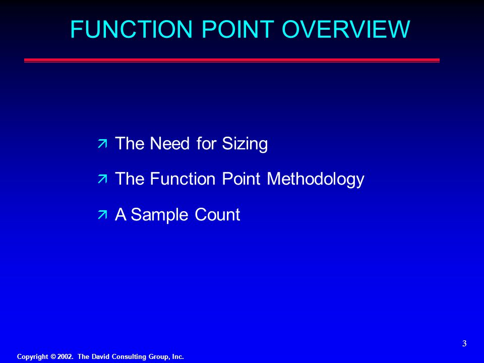 FUNCTION POINT OVERVIEW