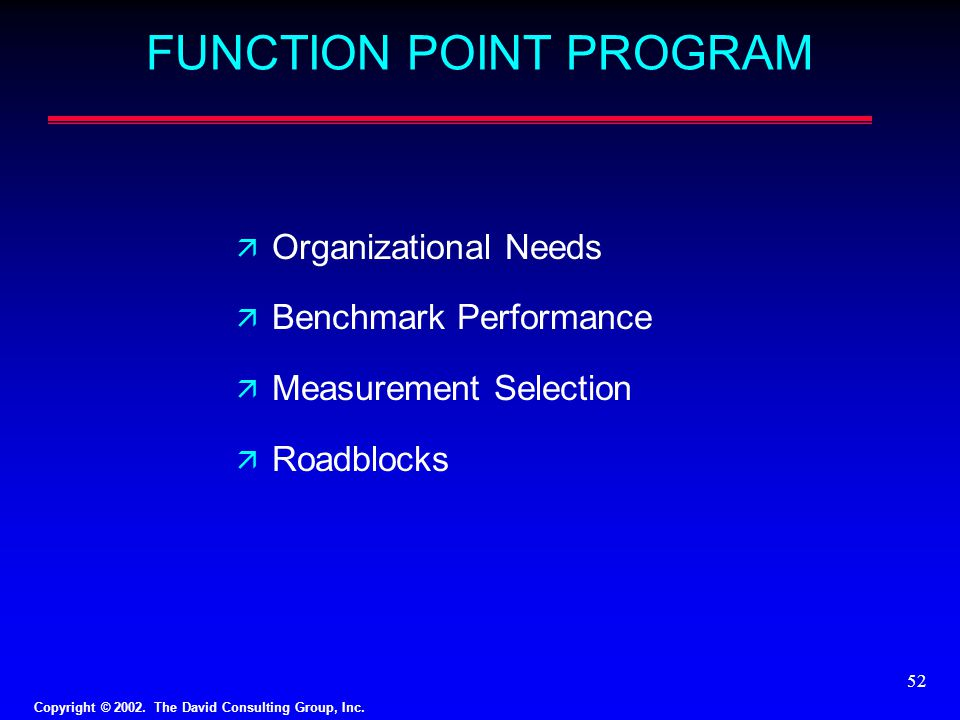 FUNCTION POINT PROGRAM