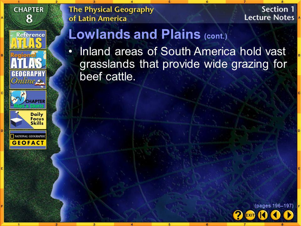 Lowlands and Plains (cont.)