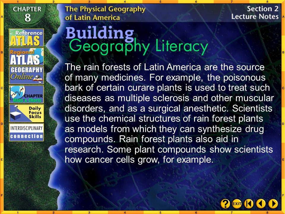 The rain forests of Latin America are the source of many medicines