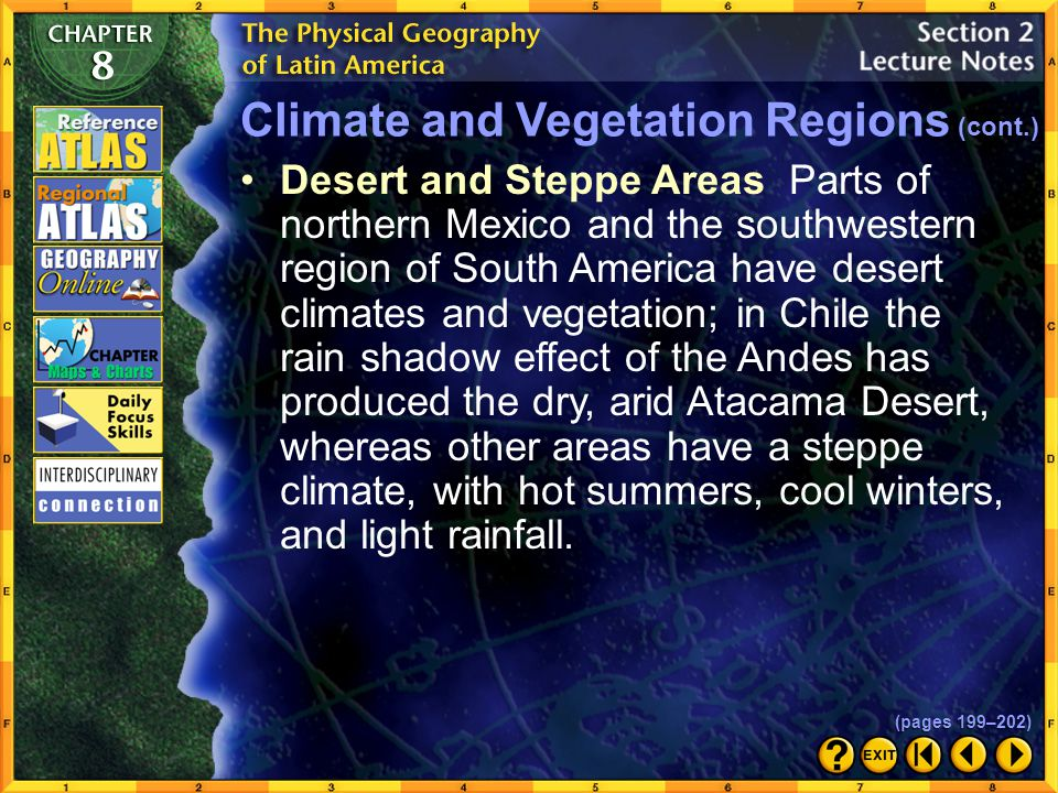 Climate and Vegetation Regions (cont.)