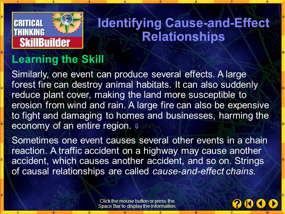 Identifying Cause-and-Effect Relationships