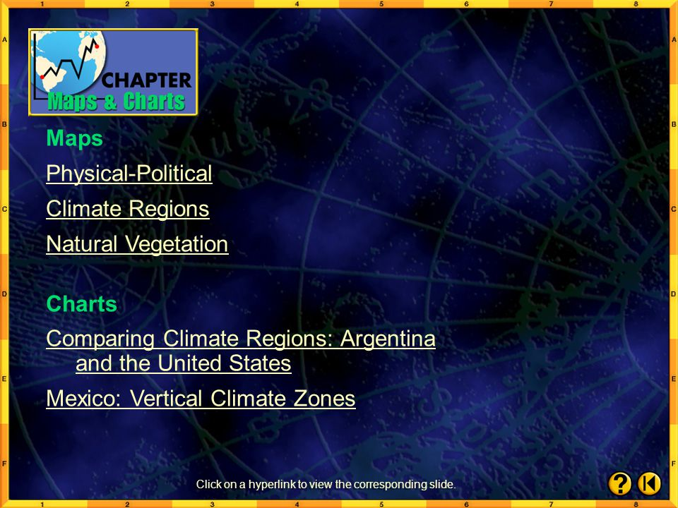 Chapter Maps and Charts Contents