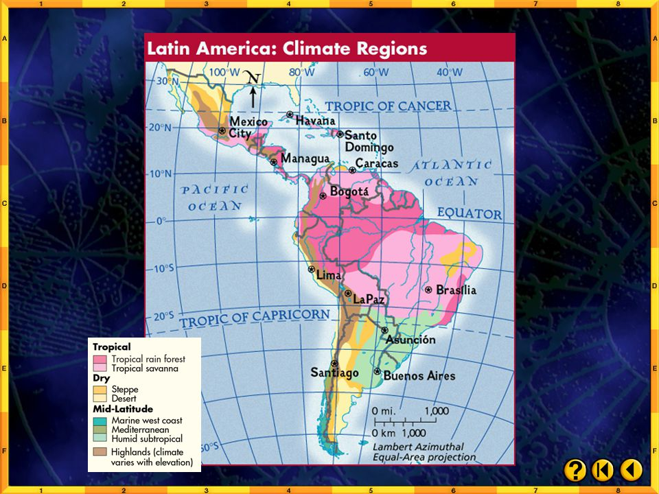 Chapter Maps and Charts: Climate Regions