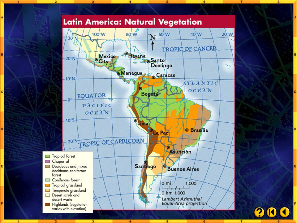 Chapter Maps and Charts: Natural Vegetation