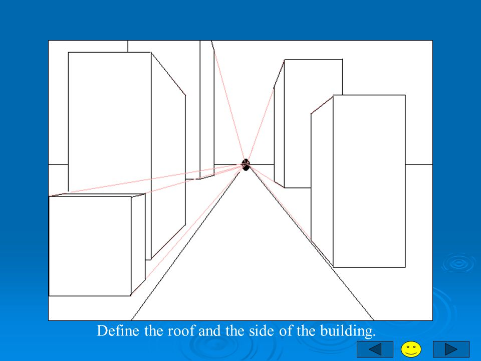 Define the roof and the side of the building.