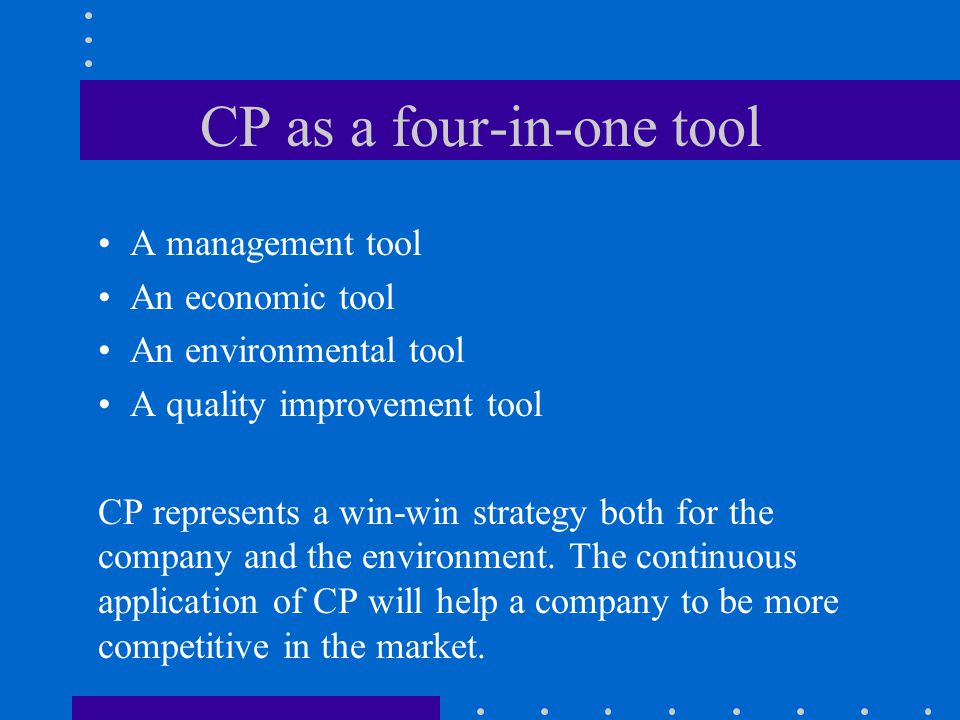 CP as a four-in-one tool