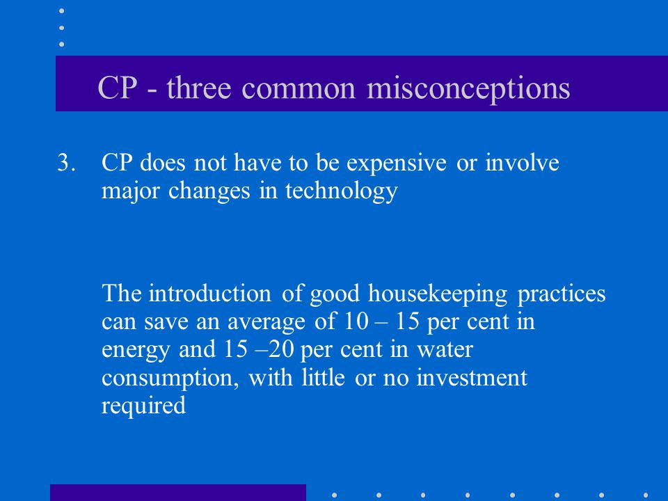 CP - three common misconceptions