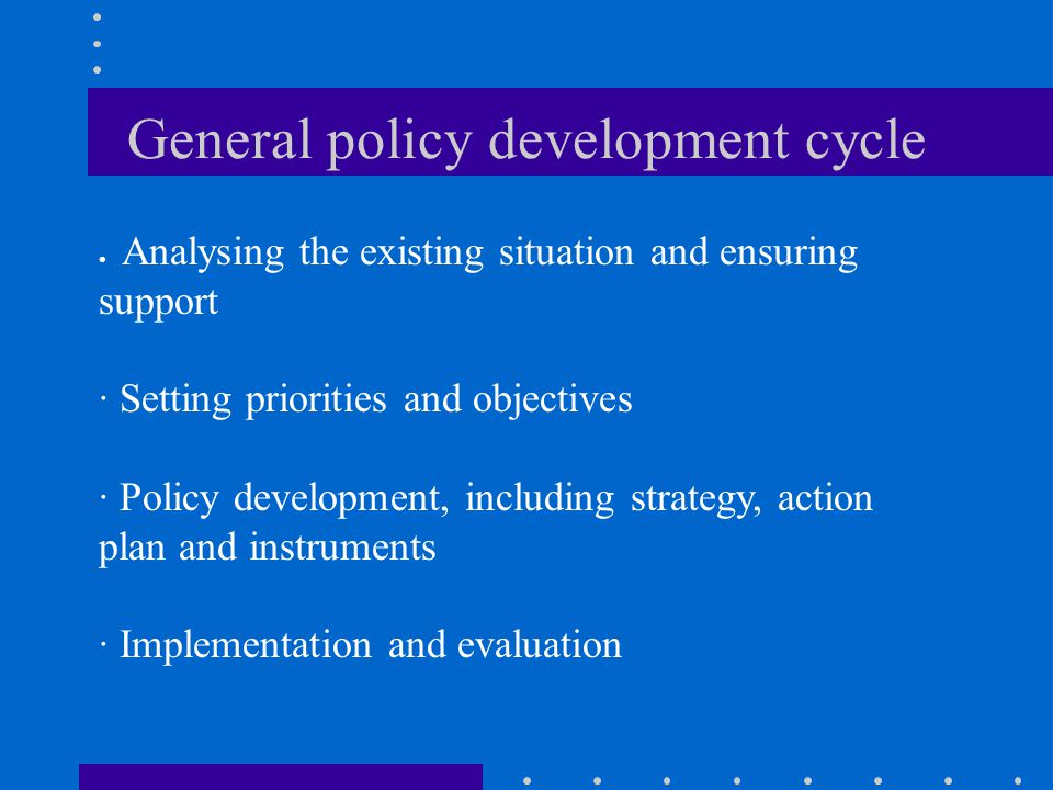 General policy development cycle
