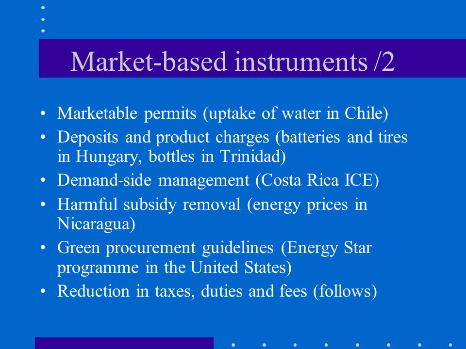 Market-based instruments /2