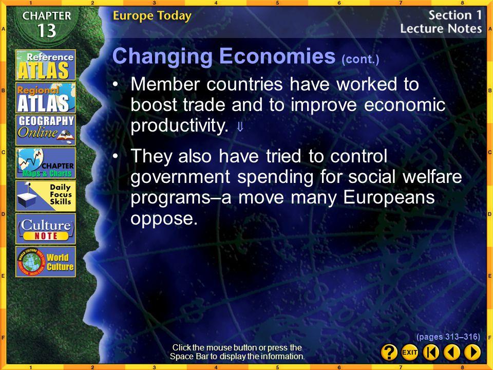 Changing Economies (cont.)