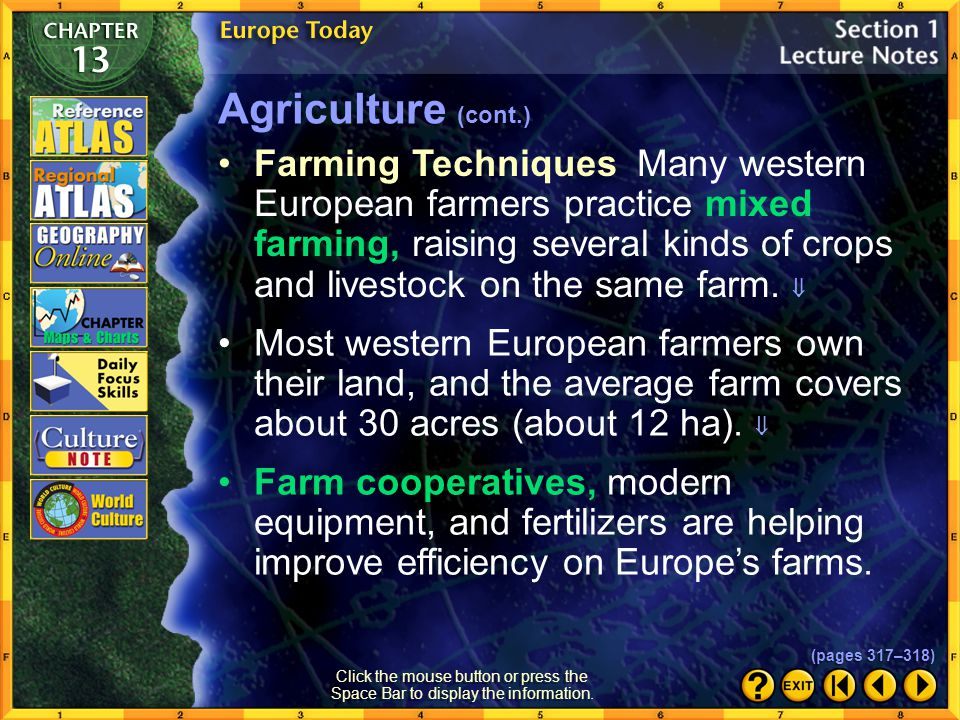 Agriculture (cont.)