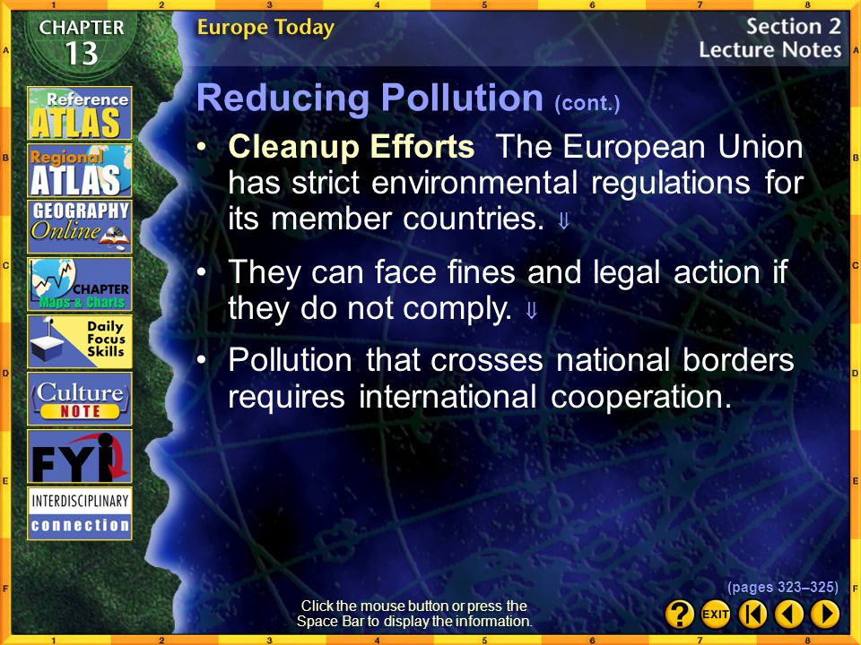 Reducing Pollution (cont.)