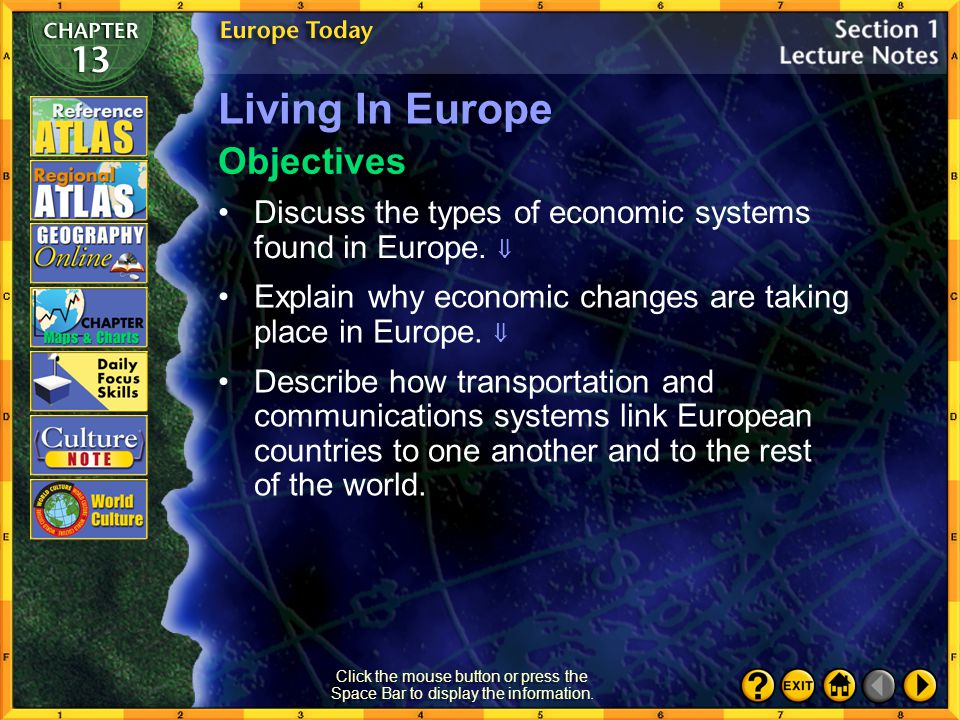 Living In Europe Objectives
